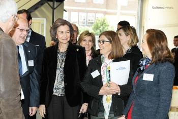 S.M. la Reina Doña Sofía visita el Banco de Alimentos de Valladolid