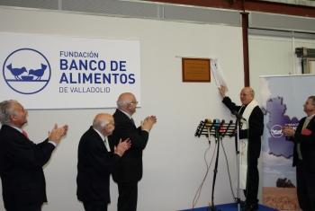 La Fundación Banco de Alimentos de Valladolid inaugura sus nuevas instalaciones del Polígono de Argales