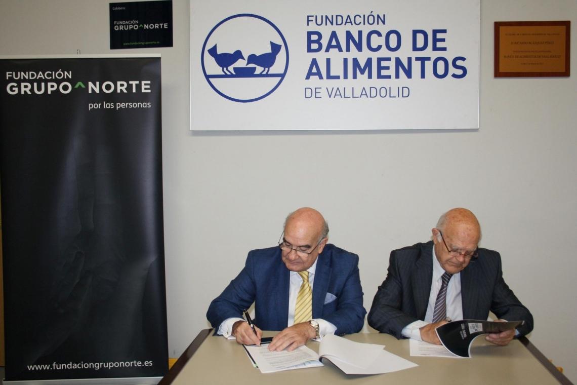 Fundación Grupo Norte sufragará el coste anual del alquiler de una nueva nave del Banco de Alimentos de Valladolid